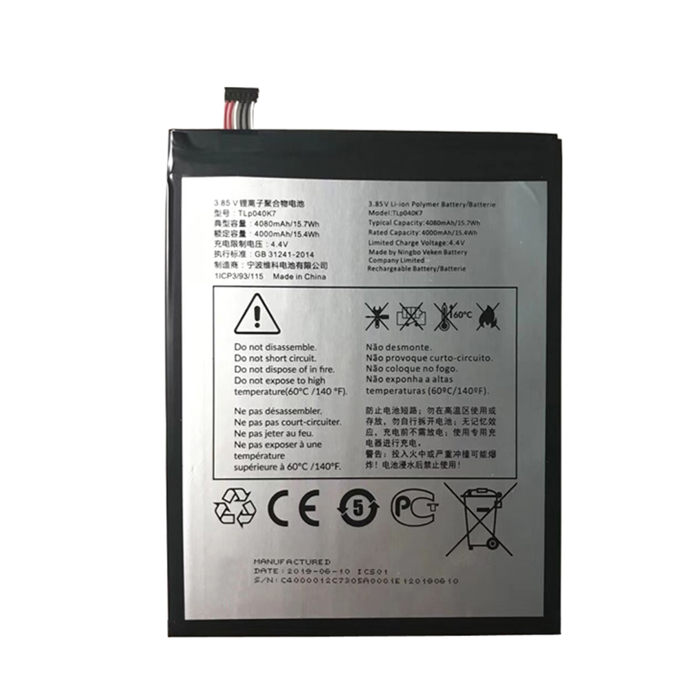 Alcatel TLp040K7 TLp040J1 Battery