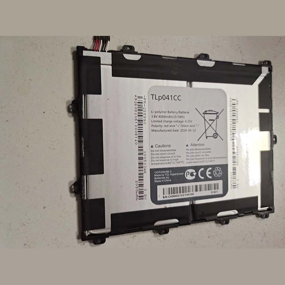 Replacement for Alcatel TLp041CC battery