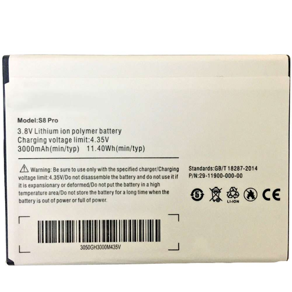 Ulefone S8 replacement battery