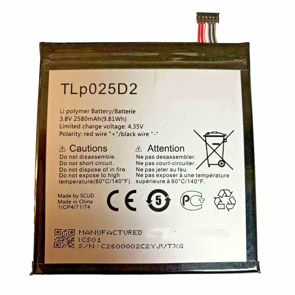 Alcatel TLp025D2 Smartphone Battery