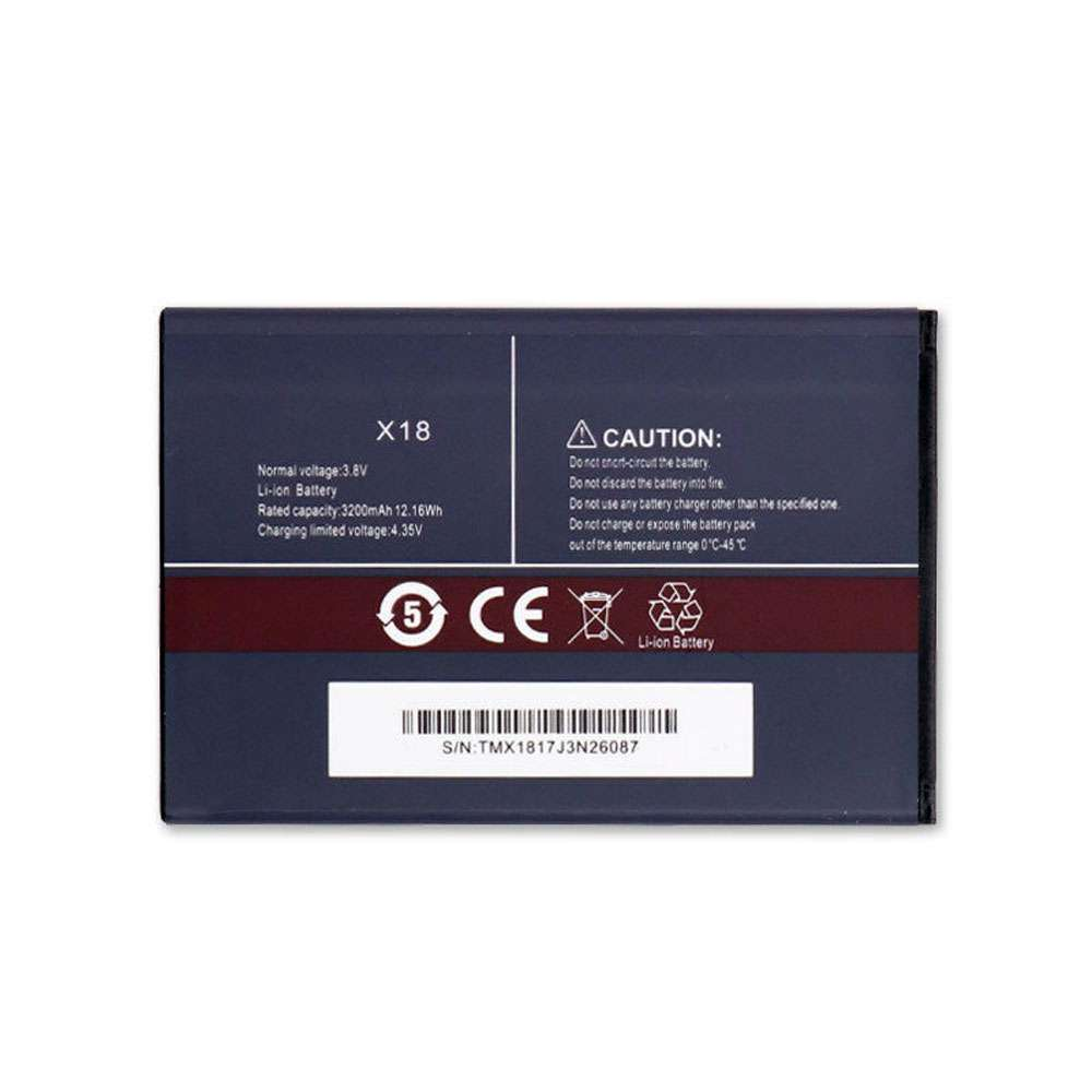 Replacement for CUBOT X18 battery