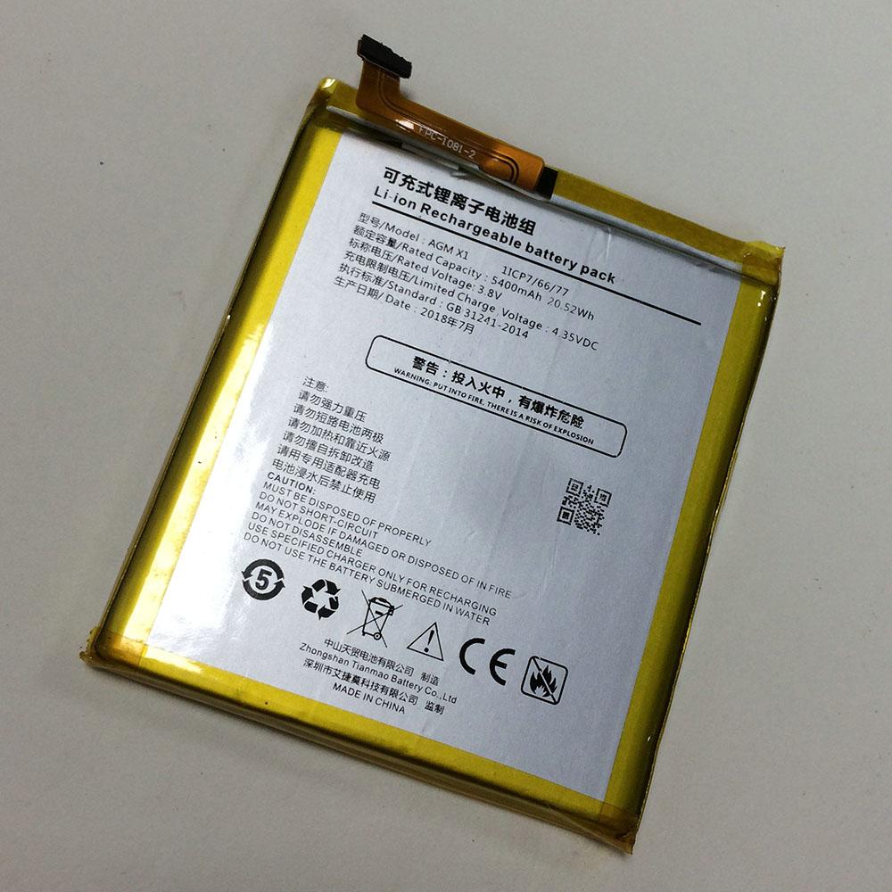 AGM X1 Smartphone Akku